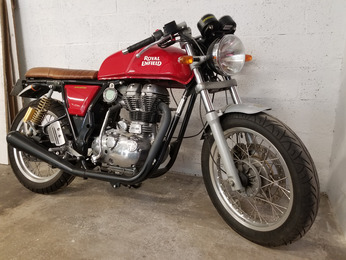 CONTINENTAL GT 535 ROYAL ENFIELD ROUGE